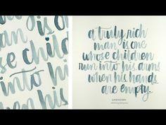 Brush Lettering 2 – Instagram 365 Project – #KWDesign365quotes « kwernerdesign blog