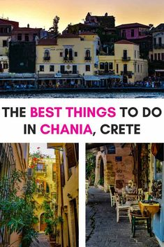 Best Things to do in Chania, Crete (Greece) Backpacking Europe, Europe Travel Guide, Travel Info, Travel Guides, Mykonos Greece, Crete Greece, Athens Greece, Santorini, Greece Itinerary