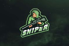 Ad: Sniper Sport and Esports Logo by ovozgraphics on Are you need Esports and Sports Logo? but worrying about the services prices?, Esports Logo creator that give you solutions Game Logo Design, Esports Logo, Black Cartoon, Bear Claws, Professional Logo, Create A Logo, Logo Templates, Design Templates, Logo Design Inspiration