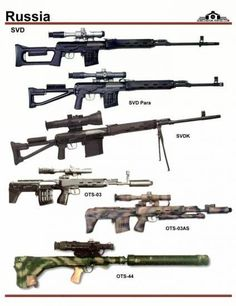 СССР / Россия: SVD, SVDK, OTs-03, OTs-03AS, OTs-44