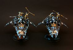 And this is the last color (but not part))) of my Harlequin army - Spades in death theme, in blue color. All faces are in skull masks and s...