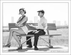 Photography Ed Bensen  The Notebook inspired Engagement Session Retro