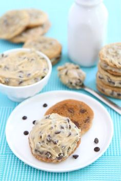 Chocolate Chip Cookie Dough Sandwich Cookies | Two Peas & Their Pod