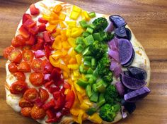 Rainbow pizza is a perfect family friendly recipe for St. Patrick's Day dinner.
