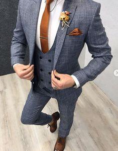 Paul Light Blue SlimFit Suit is part of Suits - Product SlimFit vest suit Size 464850525456 Suit material wool, poly Machine washable No Fitting Slimfit Remarks Dry Cleaner Suit Smart Casual Attire, Mens Casual Suits, Mens Fashion Suits, Casual Clothes, Mens Suits, Casual Outfits, Formal Suits, Men Formal, Dress Casual