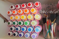Thrifty Crafty Girl: Organizer for small items made from PVC pipe
