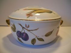 VTG Evesham Royal Worcester Oven to Tableware Casserole and Lid England 1961 | Worcester Tablewares and Casserole & VTG Evesham Royal Worcester Oven to Tableware Casserole and Lid ...
