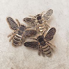 Erin Greenough — Bronze Honey Bee Lapel Pin