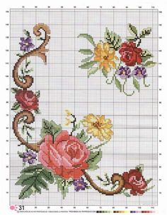 Thrilling Designing Your Own Cross Stitch Embroidery Patterns Ideas. Exhilarating Designing Your Own Cross Stitch Embroidery Patterns Ideas. Cross Stitch Borders, Cross Stitch Rose, Cross Stitch Flowers, Cross Stitching, Cross Stitch Embroidery, Cross Stitch Patterns, Hand Embroidery Flowers, Embroidery Patterns, Stitch Cartoon