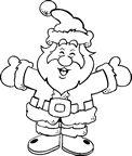 Coloriage Père Noël pour les enfants #Noel