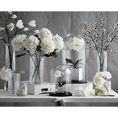 White Cherry Blossom Flower Branch | Crate and Barrel