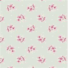 """Aurora Teal"" Scandi Floral Fabric Fat Quarter by Tilda"