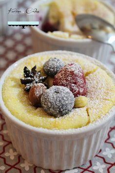 Tvarohové koláčiky so zasneženým ovocím - Cheese Dessert With Snowy Fruit Cheese Dessert, Bourbon, Acai Bowl, Food And Drink, Pudding, Fruit, Breakfast, Sweet, Recipes