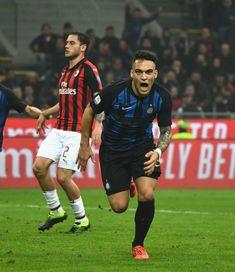 Lautaro Martinez of FC Internazionale celebrates after scoring the.