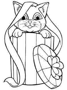 cat color pages printable | DOG AND CAT COLORING PAGES « Free ...