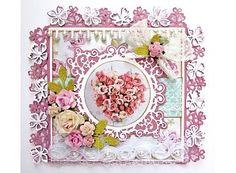 Joy!Crafts Stanz- und Prägeschablone: Bordüre mit Blumen