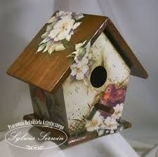 Image result for shabby chic altered bird houses