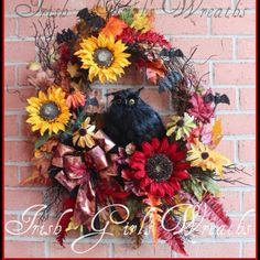 On SALE! One week ONLY! November 1st this wreath will be dismantled and the elements stored for a future wreath next fall. So if you live this wreath, snag it NOW before it is GONE.