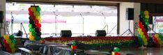 Reggae Theme Decorations | Jah, Rasta, Reggae Balloon Columns