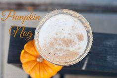 Pumpkin Nog I was chatting with a friend last night and surprise, surprise the topic of alcohol came up! She told m. Thanksgiving Cocktails, Christmas Cocktails, Fun Cocktails, Cocktail Recipes, Cocktail Parties, Pumpkin Cocktail, Yummy Food, Tasty, Thirsty Thursday