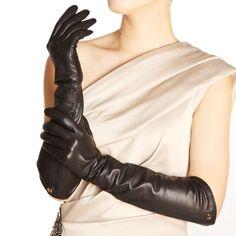ELMA Ellbogenlange Damen-Fahrerhandschuhe aus Nappaleder