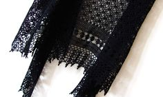 Black Bird - Crocheted Shawl - Handmade Accessory - Made To Order by KatyaCrochetNest on Etsy