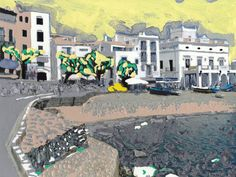 'Cadaques'+by+Erwin+Nas+on+artflakes.com+as+poster+or+art+print+$16.63