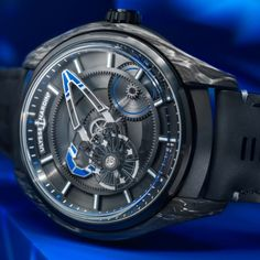 When two great forces unite, the result is a supernova of timepieces: The Ulysse Nardin FREAK X Bucherer BLUE not only is an ultra high-precision timepiece for free spirits, but a bold modern masterwork. Limited to 88 pieces. Motifs Organiques, Ulysse Nardin, Omega Watch, Smart Watch, Blue Style, Watches, Modern, Free, Carbon Fiber