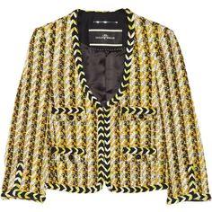 By Malene Birger Woven bouclé wool-blend jacket ($695) ❤ liked on Polyvore