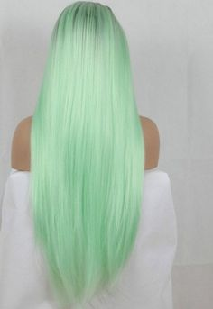 hair Green pastel - Lace Front wig forest green hair neon green lace wig blonde hair turning green in pool green black ombre hair blonde hair green from pool pink to green hair emerald green ombre hair Blonde Hair Turned Green, Blonde Ombre Hair, Mint Green Hair, Black Hair Ombre, Green Wig, Mint Hair, Balayage Hair, Green Lace, Ombre Green