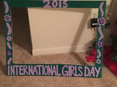 International Girls Day photo frame