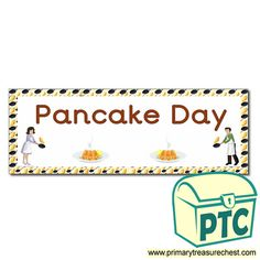 Pancake Day / Shrove Tuesday Resources - Primary Treasure Chest Teaching Activities, Teaching Ideas, Pancake Day Shrove Tuesday, Classroom Banner, Crafts For Kids, Arts And Crafts, Display Banners, Cake Shop, Role Play