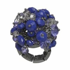 simply vera blue cluster stretch ring, $16.90