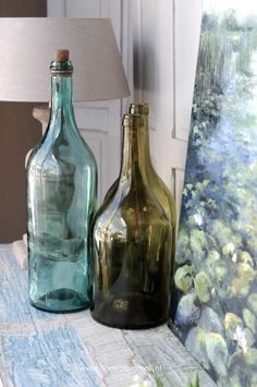 Old French bottles