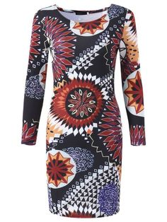Sexy printing long sleeve hollow out package hip elastic party dress sexy dresses for women #sexy #dresses #2017 #sexy #dresses #cheap #sexy #dresses #ebay