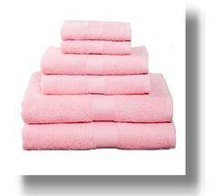 light pink bath towel 6 pc set i like these too - Pink Bathroom Towels