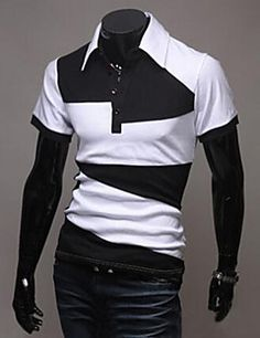 Mens Fashion Contrast Color Strip Short Sleeve Polo Shirts make you looks younger and great-hearted.Buy mens strip polo short sleeve t-shirts on Banggood,you will enjoy best products and service. Cheap Polo Shirts, Short Sleeve Polo Shirts, Army Men, Outdoor Wear, Men Online, Black Tops, Mens Fashion, Casual, Mens Tops