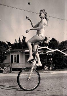 dubejuggling:    Vintage unicycle swag.