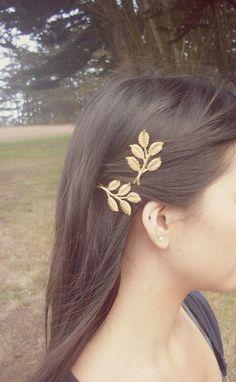 Gold Bridal Hair Pins  Bridal Bobby Pins Bridal por dreamsbythesea, $45.00