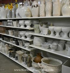 New River Pottery in Wilmington NC, White and gray home decor accessories