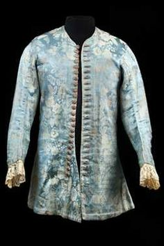 Men's jacket with sleeves, ca. 1725, Netherlands, silk damask (?)