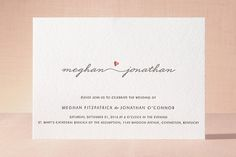 Love Connection Letterpress Wedding Invitations by Kim Dietrich Elam at minted.com