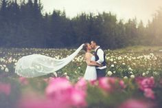 Wedding in our Peony Fields at Alaska Perfect Peony