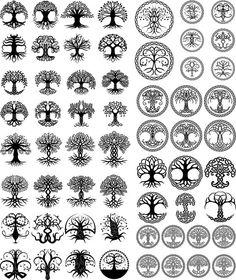 New Celtic Tree Tattoo Tatoo Ideas Celtic Tree Tattoos, Viking Tattoos, Celtic Tattoo Symbols, Wiccan Tattoos, Warrior Tattoos, Celtic Tattoos For Men, Mandala Symbols, Symbolic Tattoos, Arte Viking
