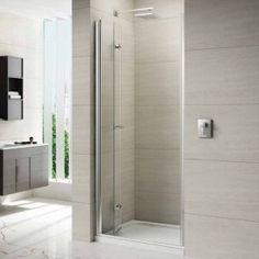 Small narrow bathroom designs a side panel shower by in modern bathroom design ideas for small narrow bathrooms space saving small narrow bathroom remodel Bifold Shower Door, Shower Doors, Small Narrow Bathroom, Bathroom Photos, Bathroom Ideas, Bathroom Remodeling, Mirror Bathroom, Family Bathroom, Downstairs Bathroom