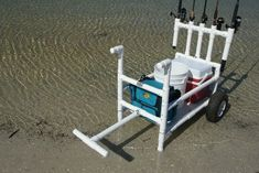 Highest quality PVC beach cart, fishing cart, kayak cart, paddle board (SUP) cart and scuba cart configurations. Accessories available. Easy to assemble and operate. Fishing Cart, Bass Fishing Lures, Crappie Fishing, Best Fishing, Kayak Fishing, Fishing Knots, Fishing Stuff, Catfish Fishing, Saltwater Fishing Gear