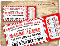Circus invitation Vintage circus Birthday invite by 2birdstudios