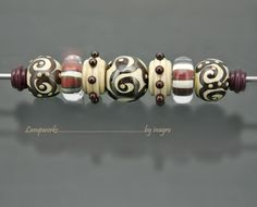 paride n.1  - set of 9 pcs handmade lampwork beads