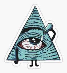 Illuminati stickers featuring millions of original designs created by independent artists. Stickers Cool, Weed Stickers, Tumblr Stickers, Laptop Stickers, Eyes Artwork, Stoner Art, Aesthetic Stickers, Sticker Design, Planner Stickers