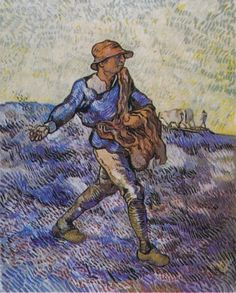Vincent van Gogh, The Sower (after Millet), 1889. Niarchos Collection, Zurich. on ArtStack #vincent-van-gogh #art